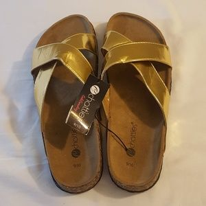 f6c25fff8806 Chatties Shoes - Chatties Gold Sandals